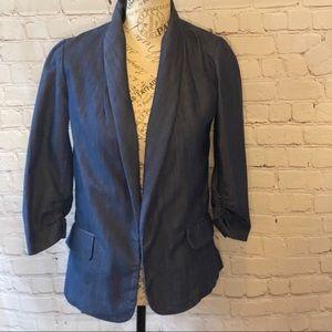 Urban Outfitter Sparkle & Fade blue denim blazer